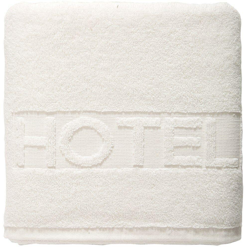 Ręcznik hotelowy 3 50x100 biały 01 napis hotel 500 g/m2 Eurofirany