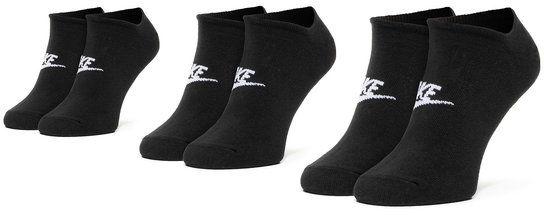 Nike Zestaw 3 par niskich skarpet unisex SK0111 010 Czarny