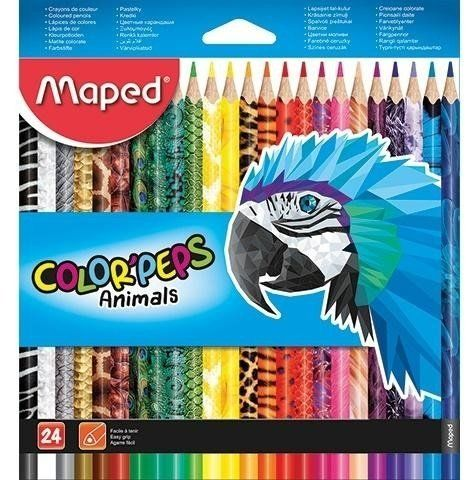 Kredki Colorpeps Animals 24 kolory MAPED