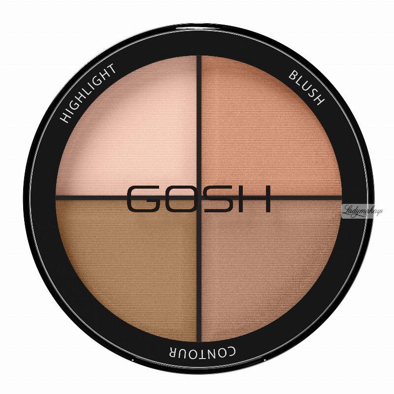 GOSH - CONTOUR N STROBE KIT - Paleta do konturowania twarzy 4w1 - 001 - LIGHT