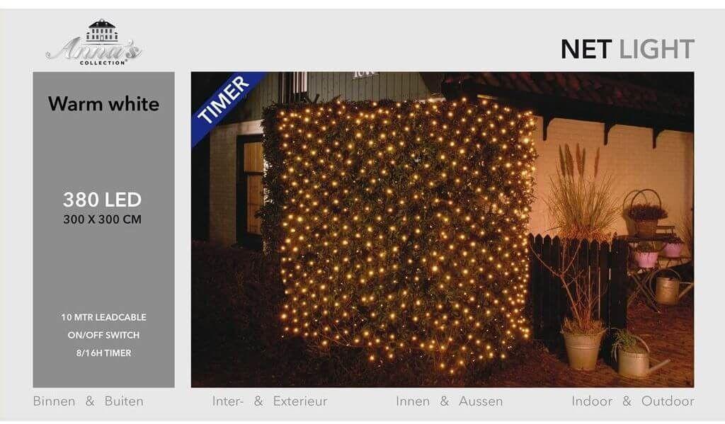 Siatka świetlna 380 LED 3x3 m