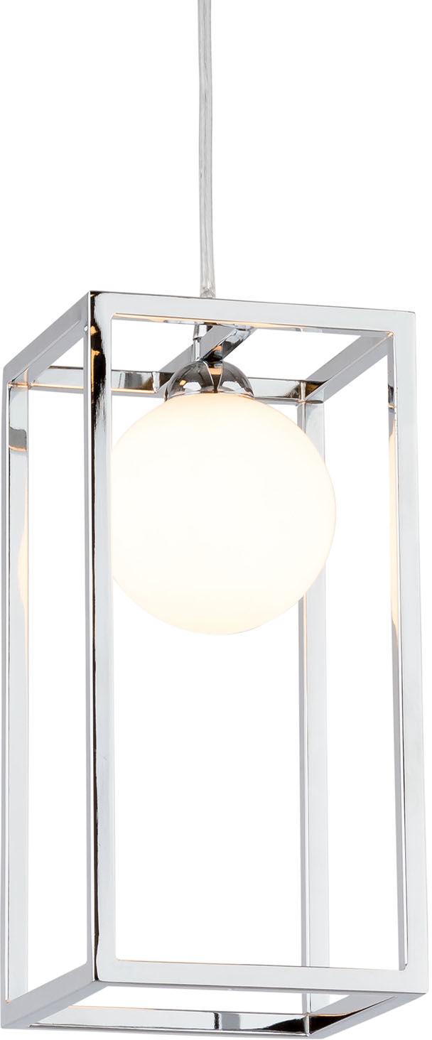 Italux lampa wisząca Daisy MD-BR4367-D1 CH chrom szklany biały klosz 14cm