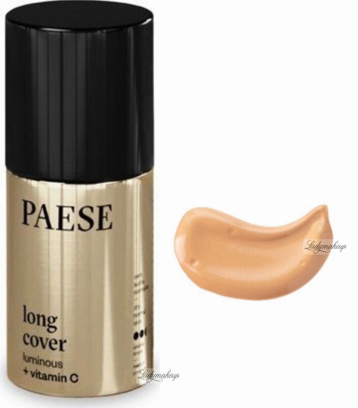 PAESE - LONG COVER LUMINOUS - Rozświetlający podkład do twarzy - 30 ml - 02W
