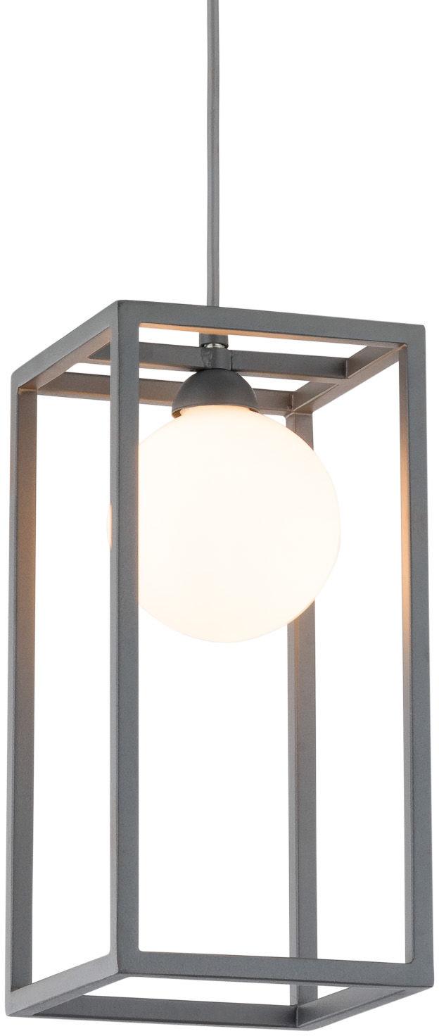 Italux lampa wisząca Daisy MD-BR4367-D1 GR szara z białym szklanym kloszem 14cm