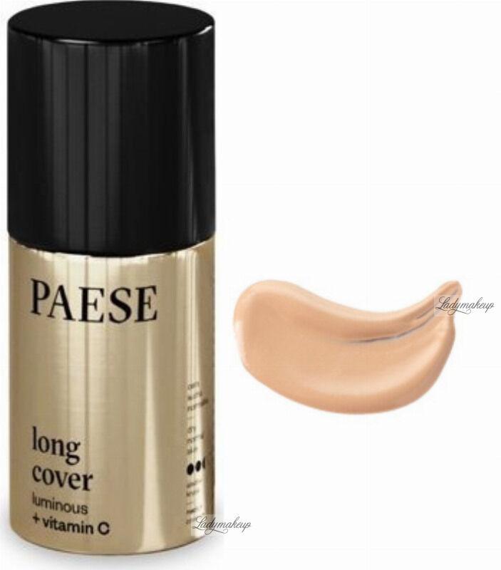 PAESE - LONG COVER LUMINOUS - Rozświetlający podkład do twarzy - 30 ml - 01N