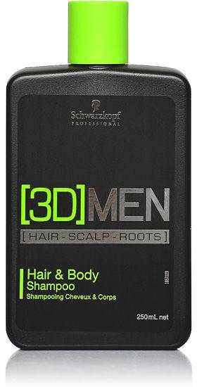 Schwarzkopf 3DMen Hair & Body Shampoo Szampon do włosów i ciała 250 ml