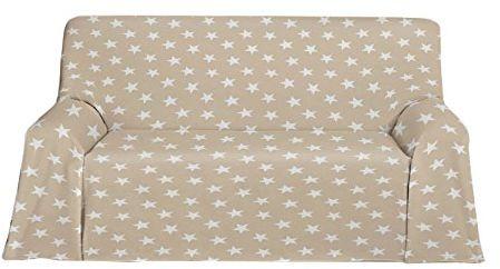 Martina Home narzuta polarowa, wielofunkcyjna, tkanina, beżowa, 180 x 130 x 3 cm
