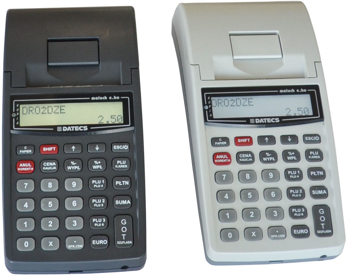 Kasa fiskalna MALUCH E.KO kopia elektroniczna NIP na paragonie