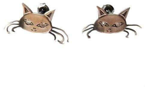 Kolczyki - Koty Filemony szare