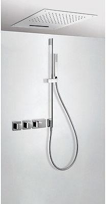 Tres Block-System zestaw prysznicowy z baterią termostatyczną chrom - 207.253.11 Darmowa dostawa