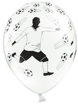 Balony Piłkarz i Piłki 30cm 6 sztuk SB14P-138-008-6