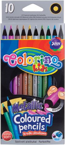 Kredki ołówkowe COLORINO Kids 10kol. metalic 34678PTR