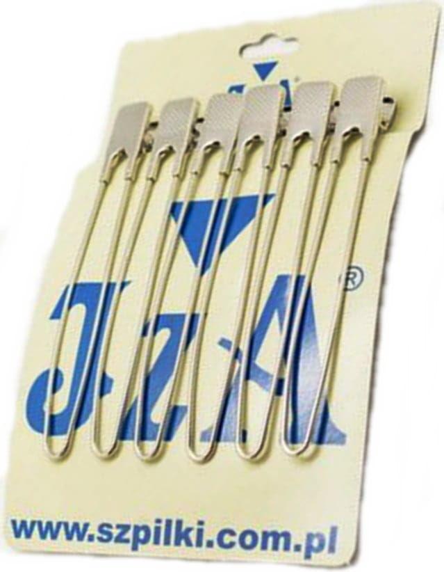 IzA 30339/6 Klipsy fryzjerskie 12cm metal 6 sztuk