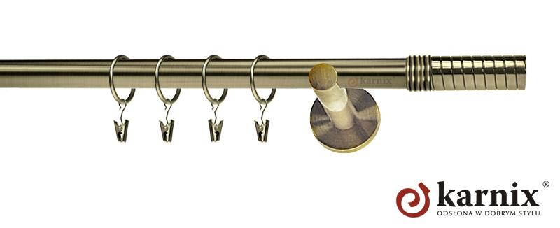 Karnisze nowoczesne NEO pojedynczy 19mm Optima antyk mosiądz
