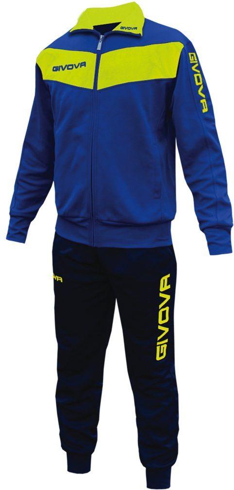 Givova, kombinezon visa Fluo, jasnoniebieski/żółty fluorescencyjny, M