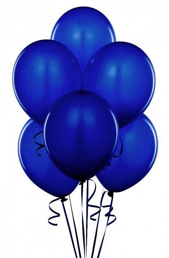 Balony lateksowe pastelowe granatowe - duże - 100 szt.
