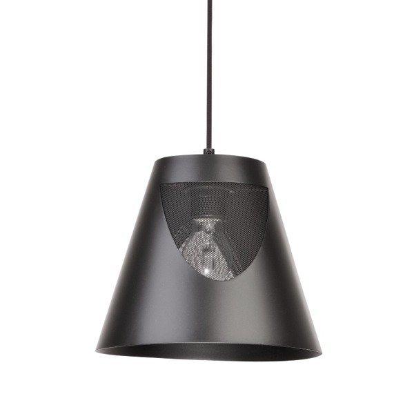Lampa wisząca ZOJA czarna metalowa 30cm