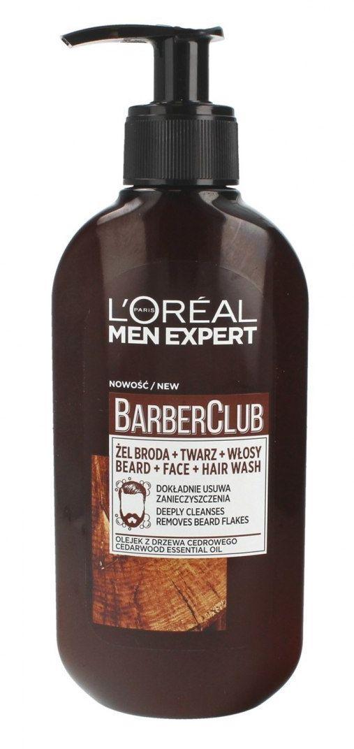 Loreal Loreal Men Expert Barber Club Żel oczyszczający do brody,włosów i twarzy 200ml