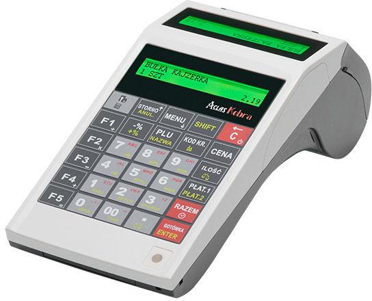Kasa z kopią elektroniczną ACLAS KOBRA prosta w obsłudze. Przenośna z mocnym akumulatorem.