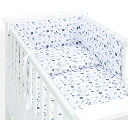 MAMO-TATO Ochraniacz dla niemowląt do łóżeczka 70x140 - Kosmos