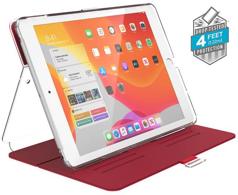 "Speck Balance Folio Clear Etui Obudowa do iPad 10.2"" (2019) (Heartrate Red/Clear)"