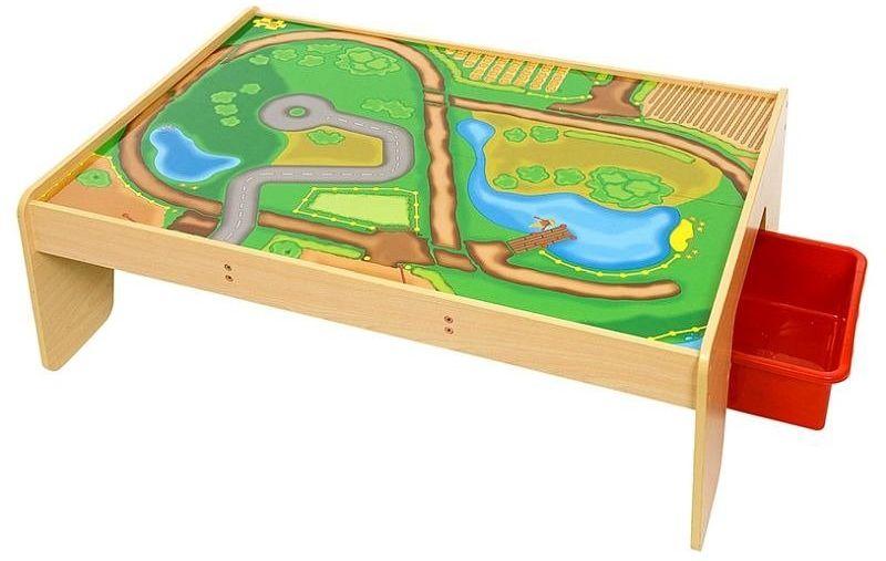 Drewniany stół do kolejek dla dzieci, BJT041-Bigjigs Rail, kolejki drewniane