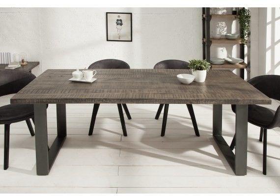 Stół drewniany Nori 160 Szare Mango
