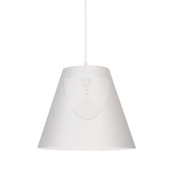 Lampa wisząca ZOJA biała metalowa 30cm