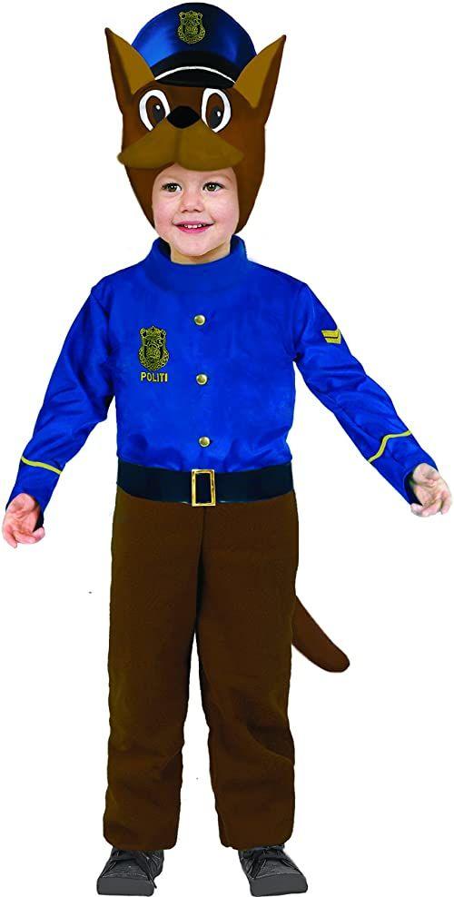 Kwiaty Paolo 61346.  szczeniak pies policjant kostium dla dzieci, 3  4 lata, niebieski
