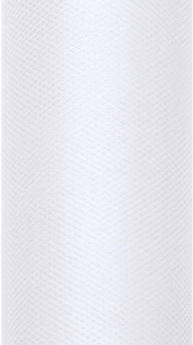 Tiul gładki biały - 50 cm x 9 metrów - 1 szt.