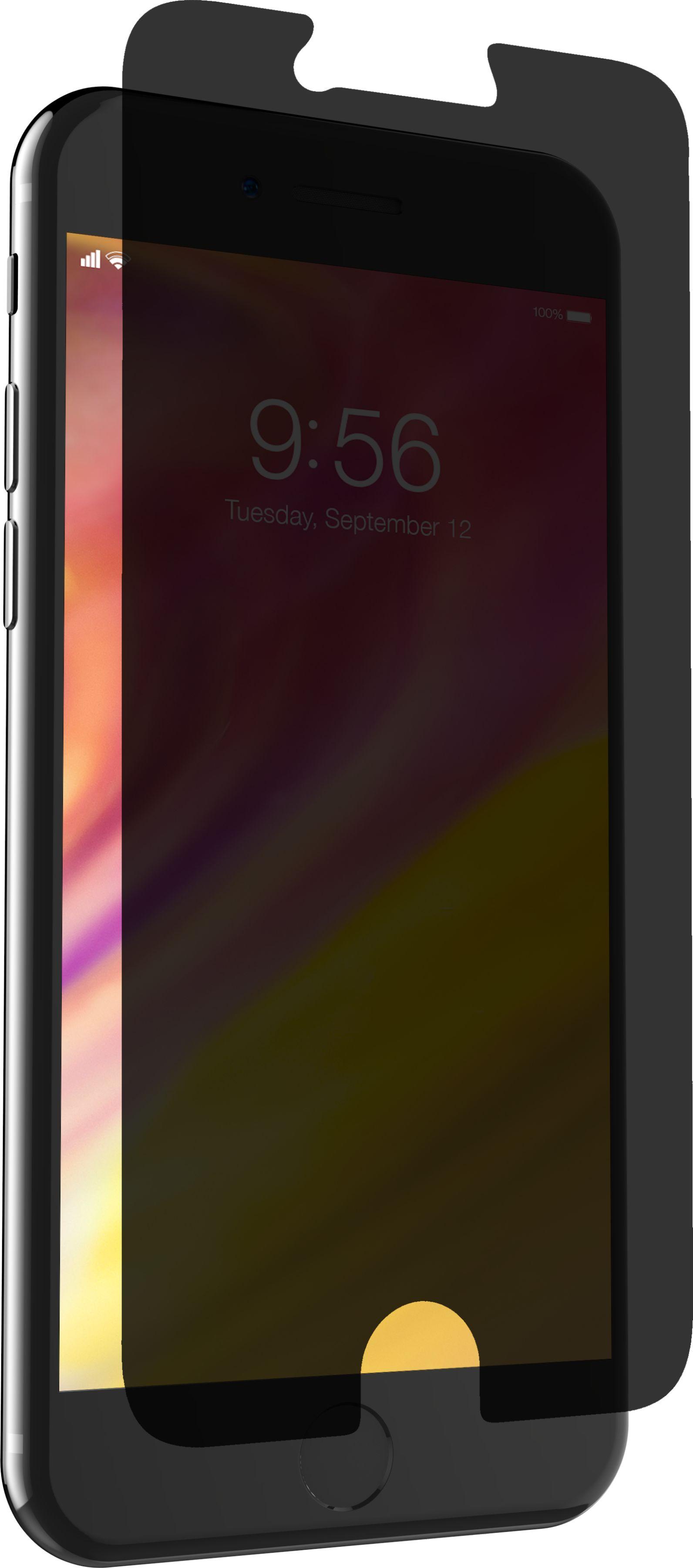 Zagg InvisibleShield Glass+ Privacy Szkło Prywatyzujące na Ekran do iPhone SE (2020) / iPhone 8 / iPhone 7 / iPhone 6s / iPhone 6