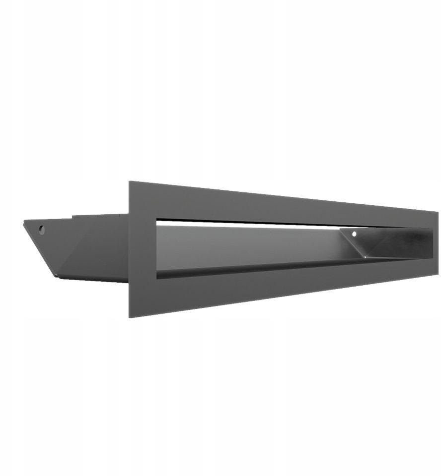 Kratka kominkowa podłużna wlotowa 6 x 40 cm grafitowa