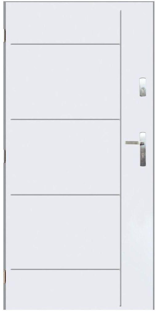 Drzwi wejściowe PANAMA Białe 90 Lewe PANTOR