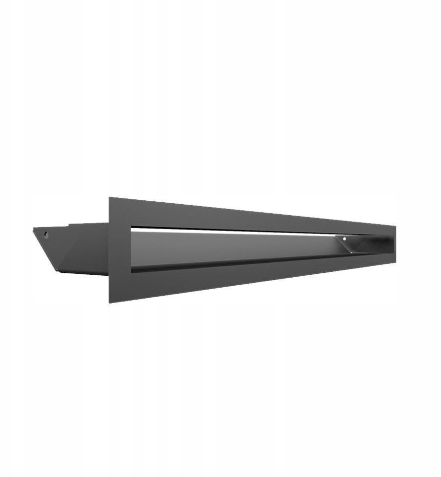 Kratka kominkowa podłużna wlotowa 6 x 60 cm grafitowa