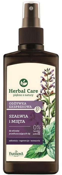 HERBAL CARE Odżywka ekspresowa Szałwia i mięta 200ml
