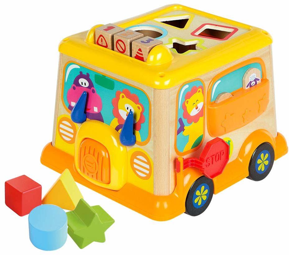 Woomax autobus, funkcje drewna (ColorBaby 46252)