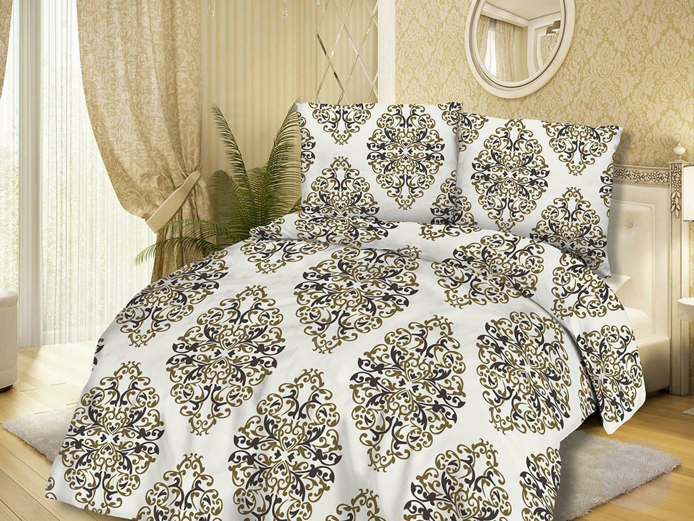 Pościel bawełniana 220x200 71446/1 glamour kremowa brązowa ornamenty orientalna Cottonlove