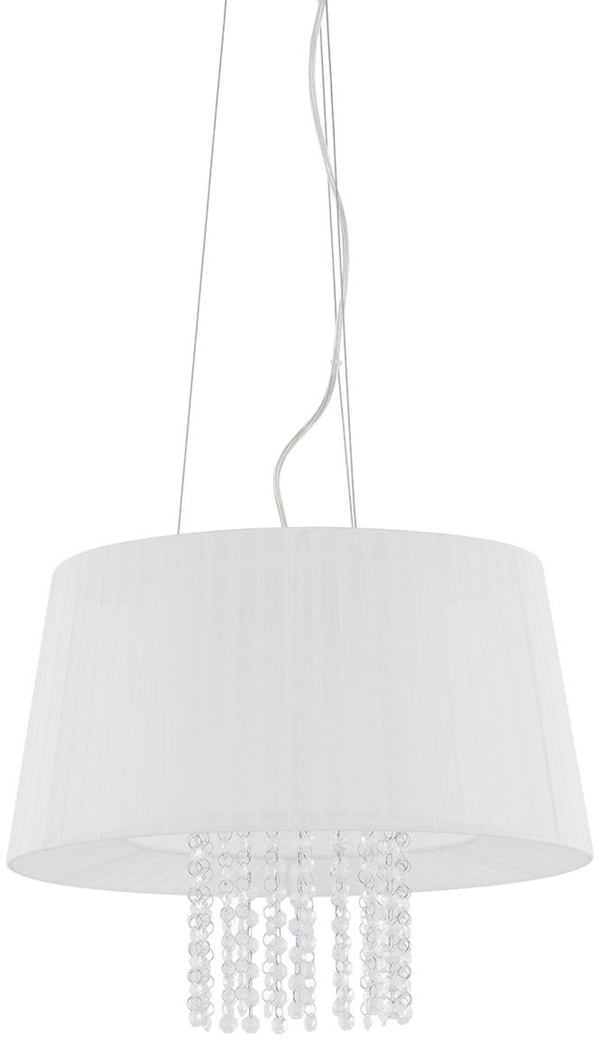 Italux lampa wisząca Luisa MDM1935-3 W biała z kryształkami 45cm