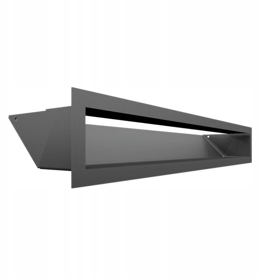 Kratka kominkowa podłużna wlotowa 9 x 60 cm grafitowa