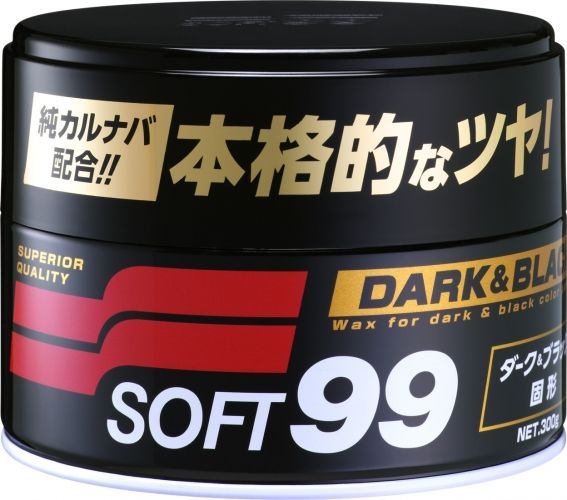 SOFT99 Dark & Black naturalny wosk Carnauba do ciemnych lakierów 300g