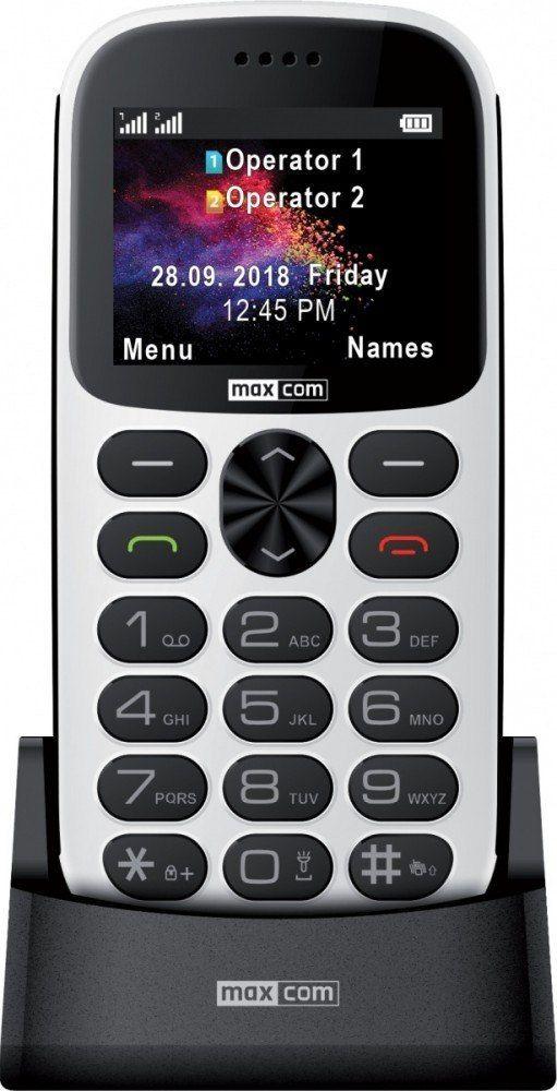Maxcom Telefon MM 471BB biały