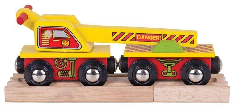 Specjalny wagon z dźwigiem, BJT416-Bigjigs Rail