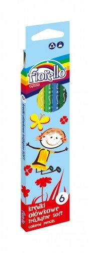 Kredki ołówkowe FIORELLO Super Soft, trójkątne 6 kolorów 170-2186