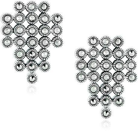 Srebrne kolczyki - Markazyty