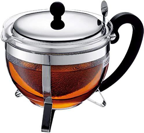 Bodum Chambord dzbanek do herbaty, szkło borokrzemowe - 1,3 l, błyszczący