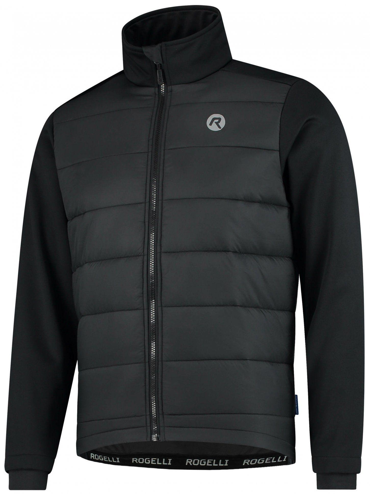 ROGELLI WADDED męska pikowana zimowa kurtka rowerowa, czarna Rozmiar: XL,003.133