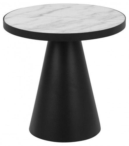 Stolik kawowy Soli 45 biały marmur