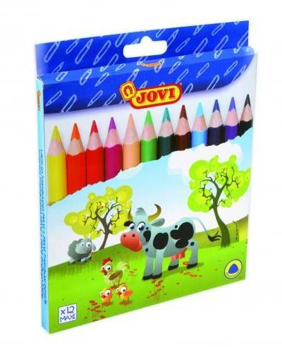 Kredki ołówkowe JOVI Maxi 12 kolorów 735 / 12