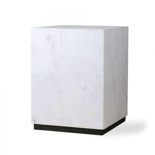 Stolik marmurowy Block biały rozm. M HK Living