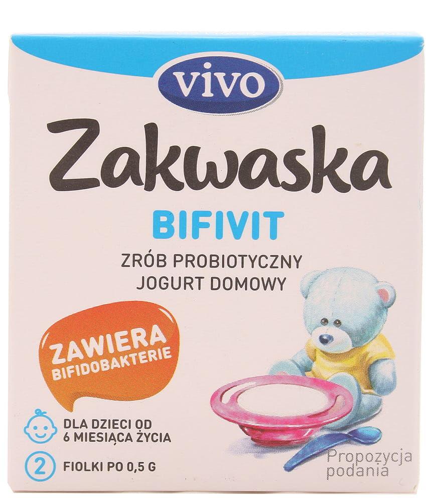 Zakwaska Bifivit żywe kultury bakterii Vivo - 2x0,5g